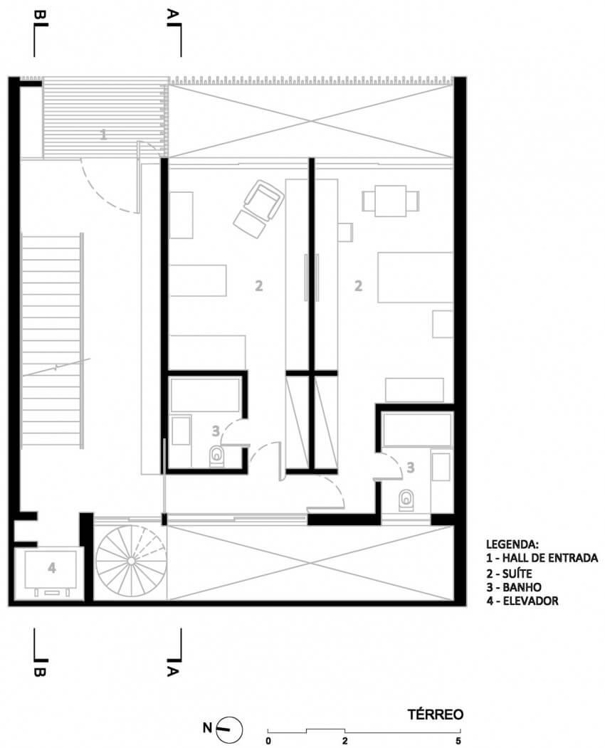 casa 12x12 planta do térreo