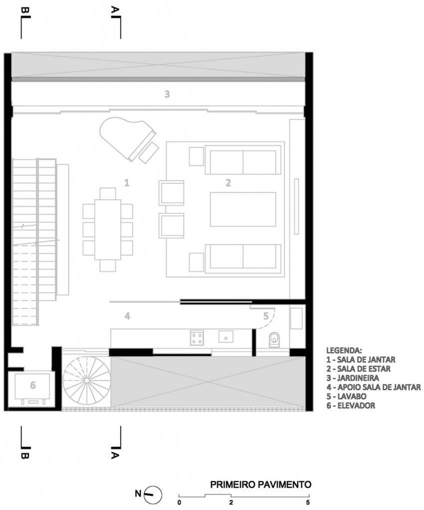 casa 12x12 planta primeiro pavimento
