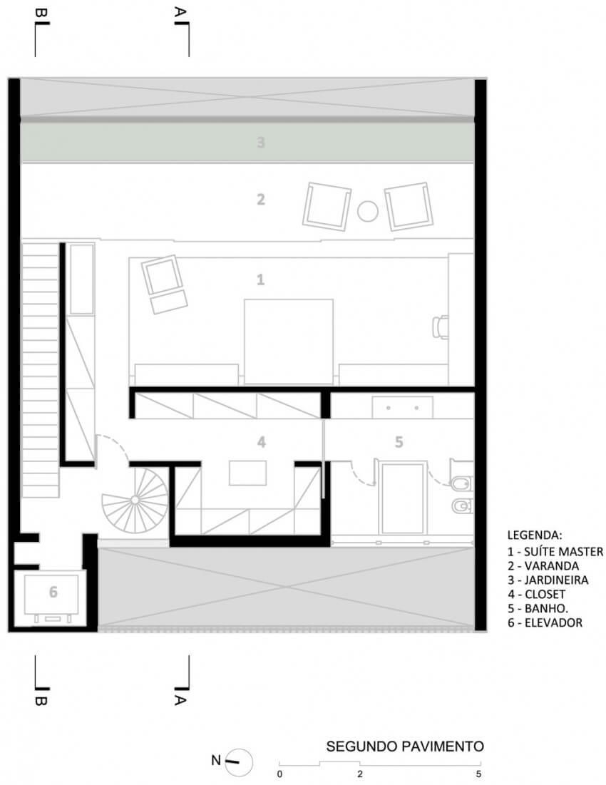 casa 12x12 planta segundo pavimento