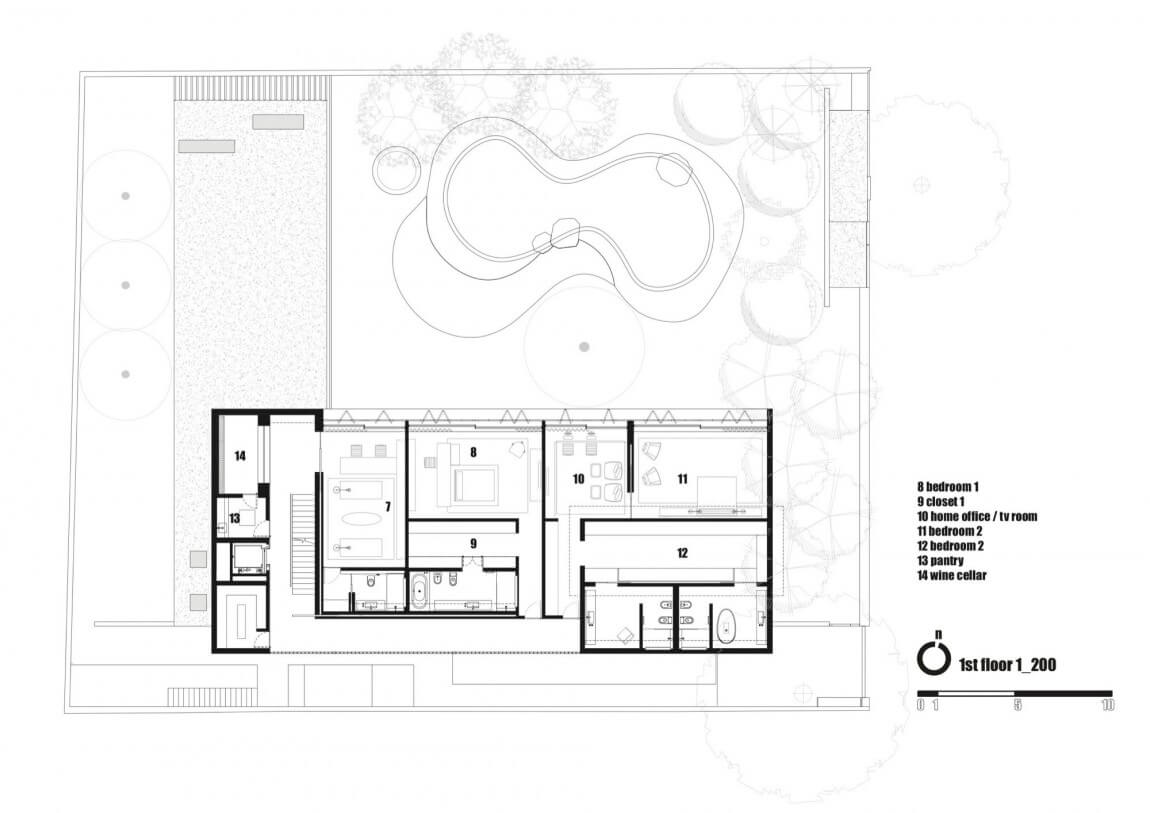 Casa Cobogó Planta Primeiro Pavimento