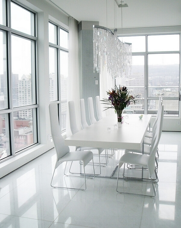 decoração para salas de jantar