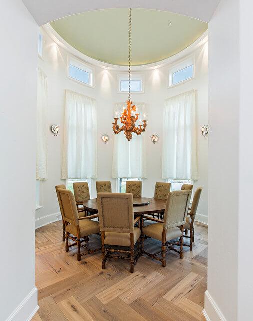 Decora o de sala de jantar fotos dicas e ideias - Mesas redondas modernas ...