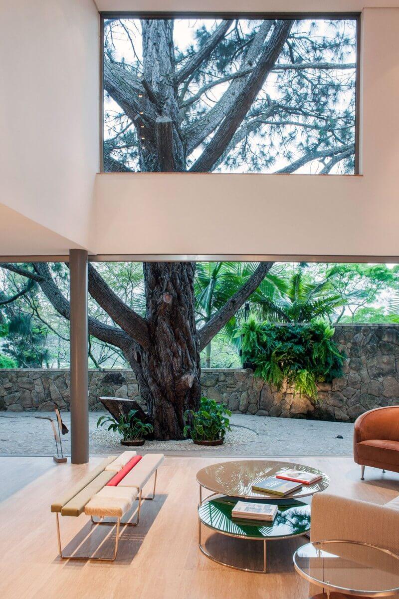 vista do jardim casa offset