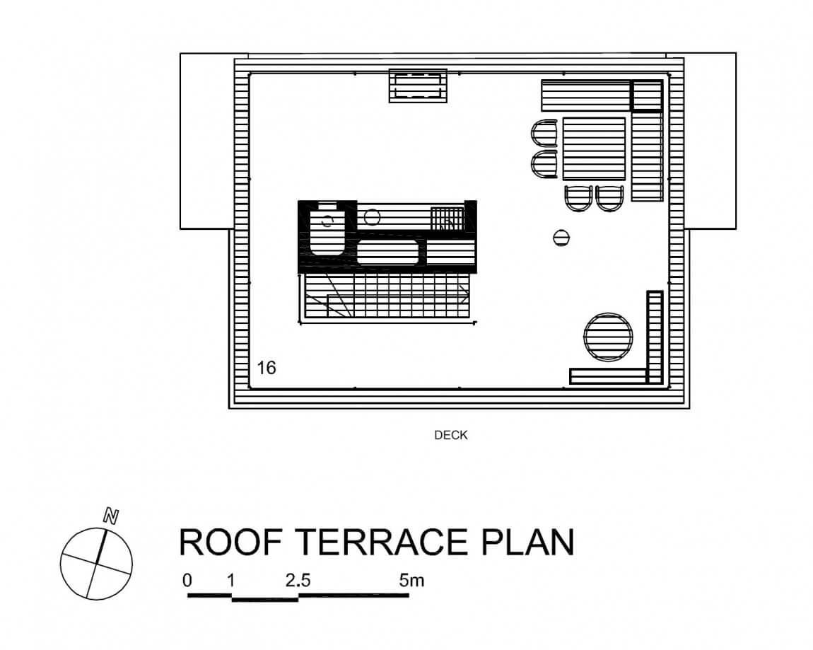 planta do terraço casa vertical