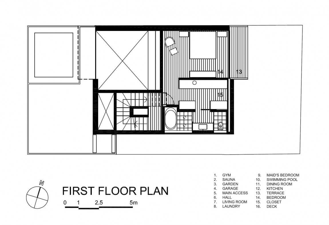 primeiro pavimento casa vertical