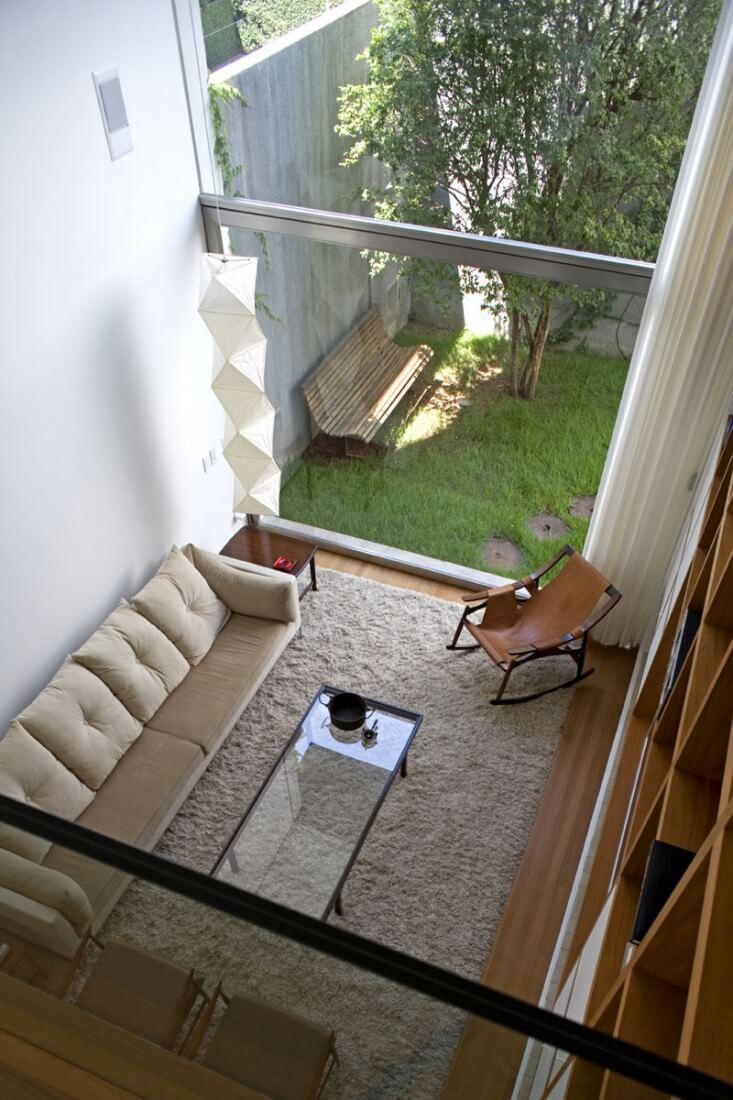 casa vertical vista da sala