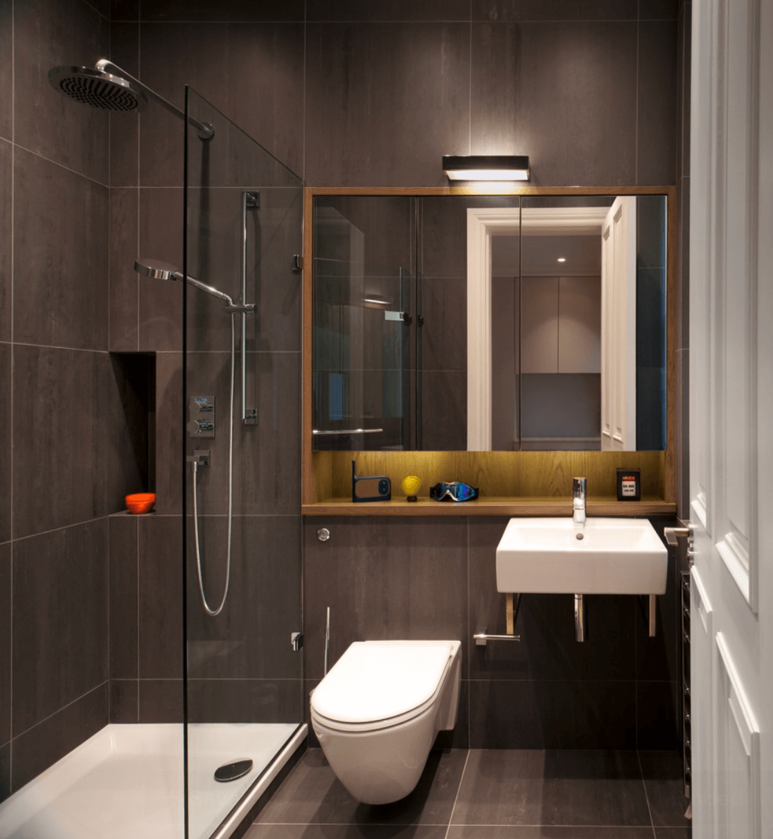 25 banheiros planejados arquidicas Bathroom designs for small flats in india