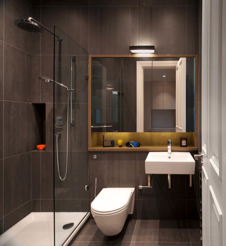 #C33608 Banheiro Banheiro Moderno 1116x1212 px Banheiros Planejados Grandes 27