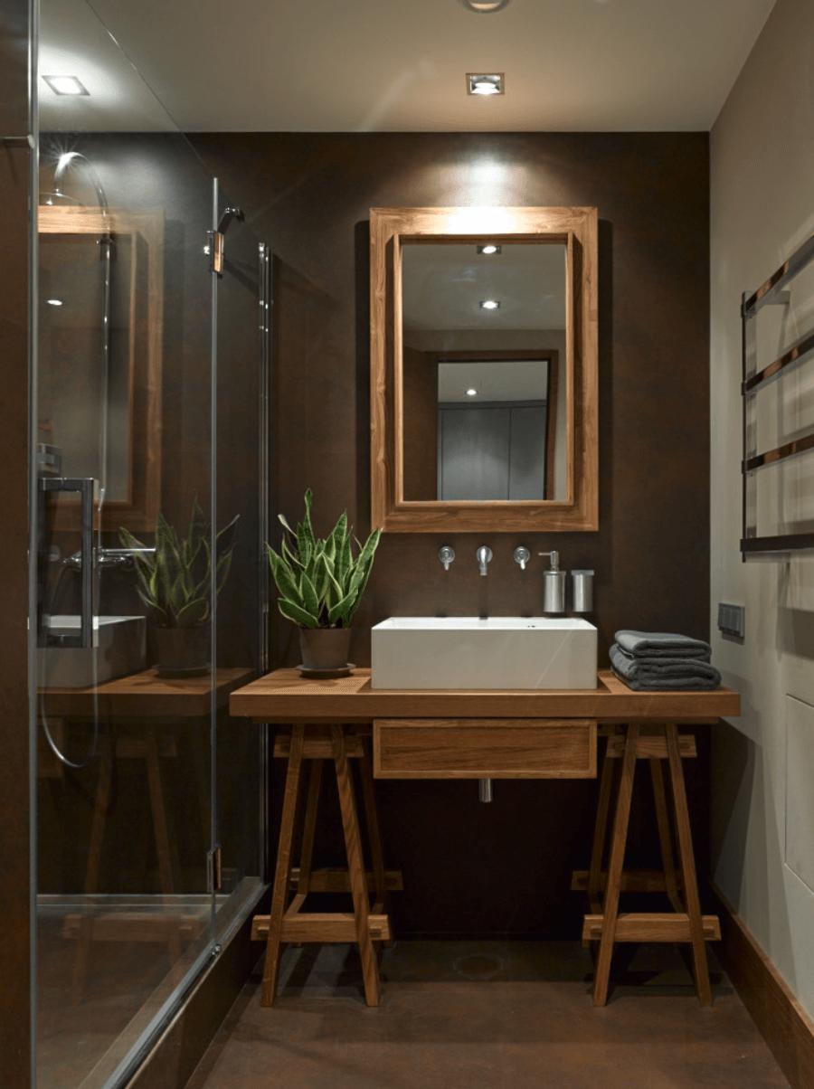 25 Banheiros Planejados  Arquidicas -> Banheiro Planejado Cinza