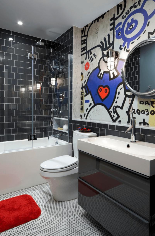 Banheiro planejado criativo
