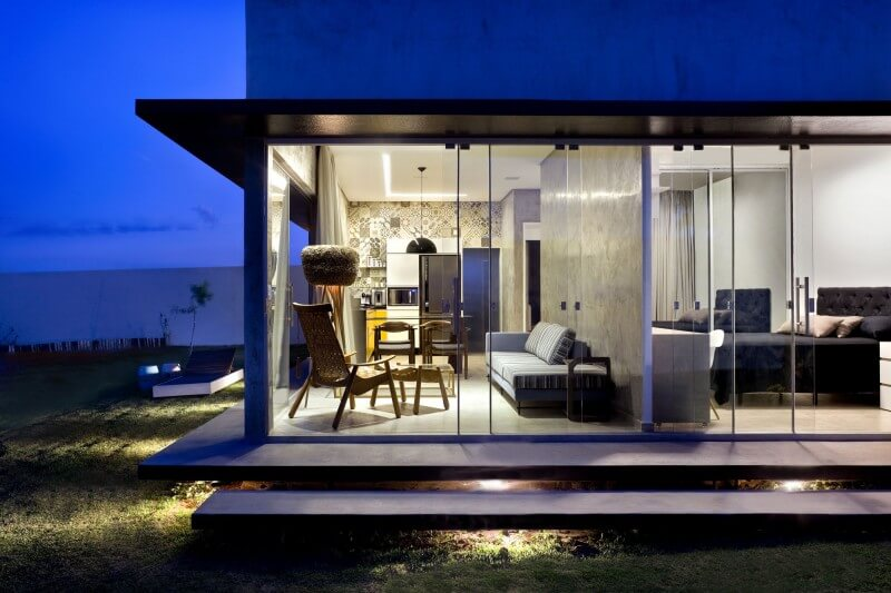 vista dos ambientes casa box