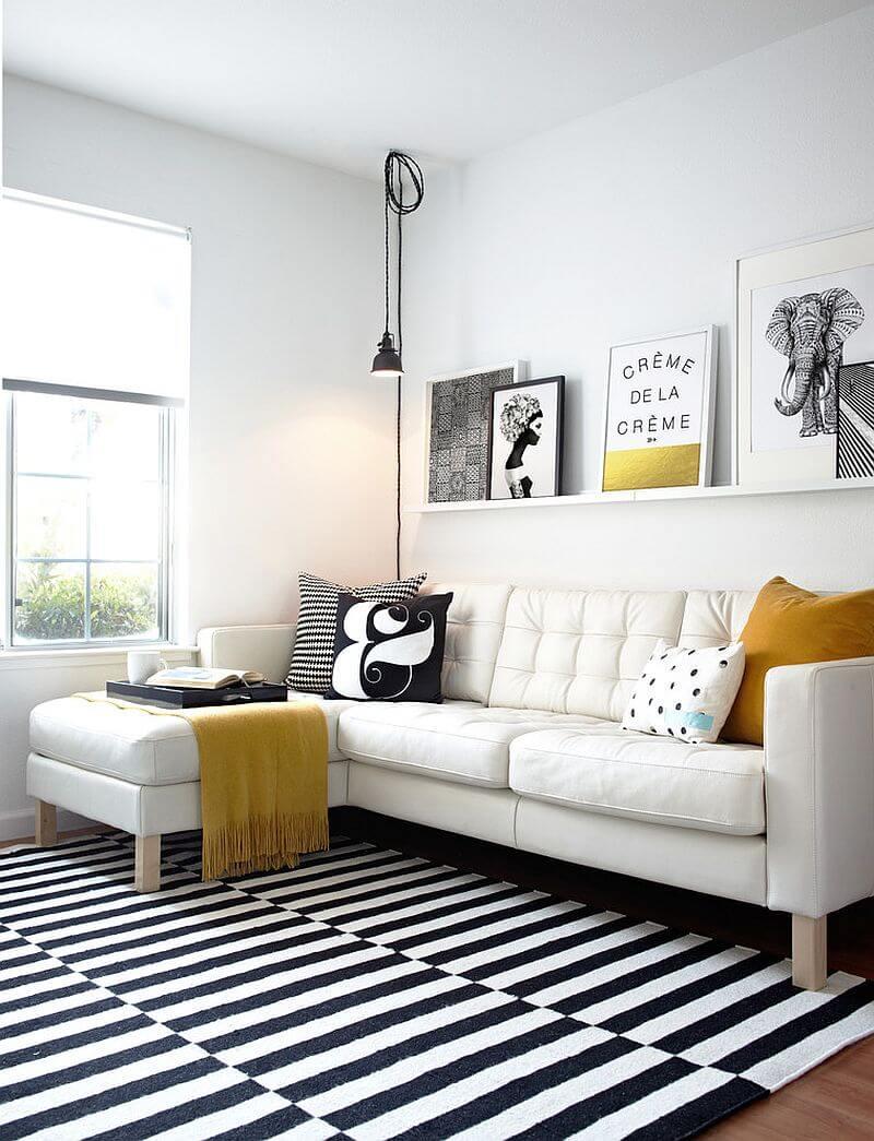 Decoração de sala pequena e barata