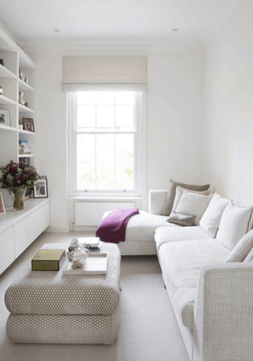 Decoração de sala pequena e simples