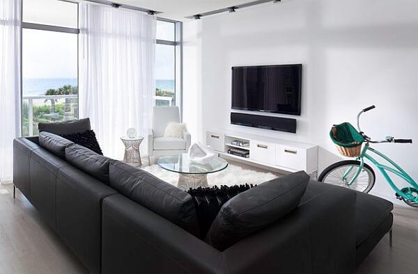 Sala de apartamento pequena