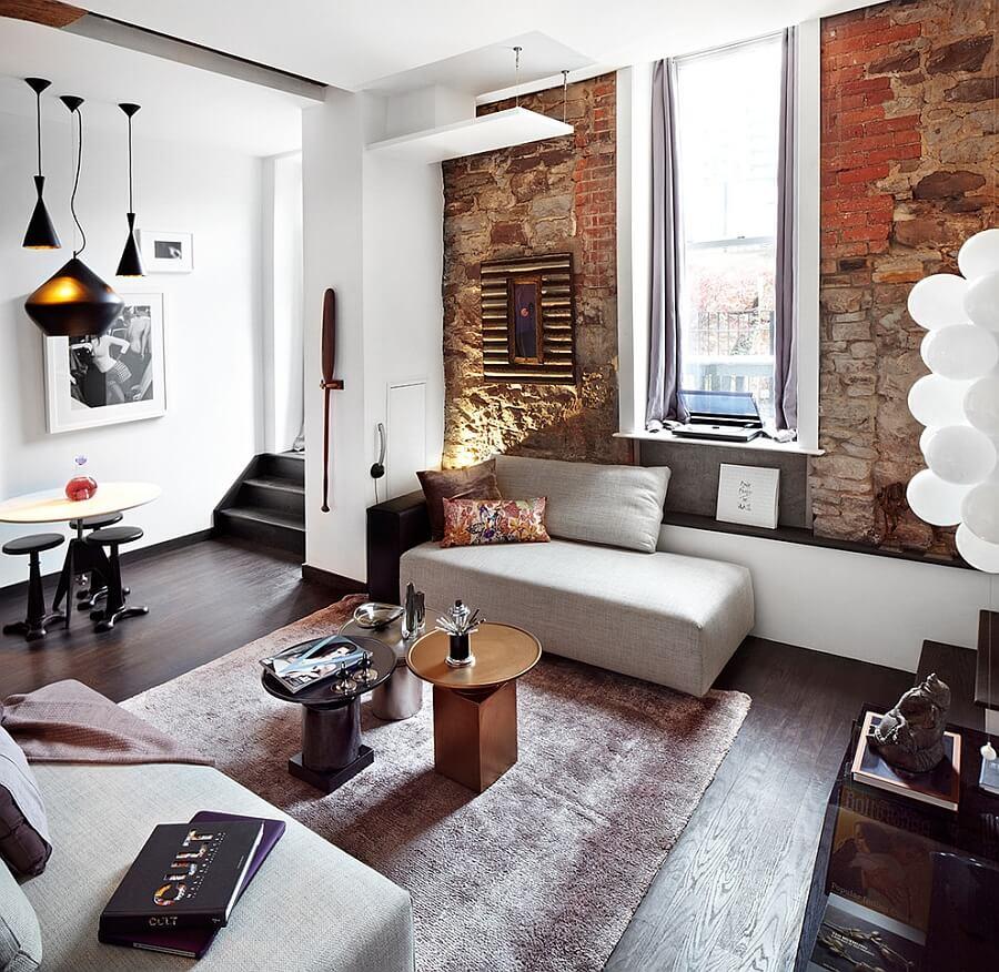 Sala moderna pequena