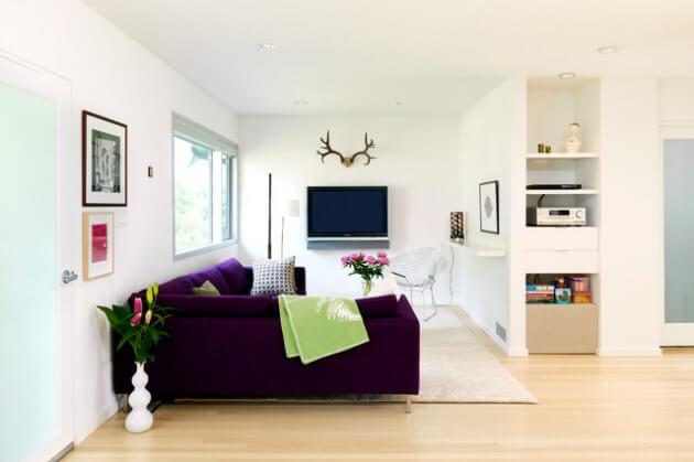 Ideias para decora o de sala pequena arquidicas for Alfombras para sala pequena