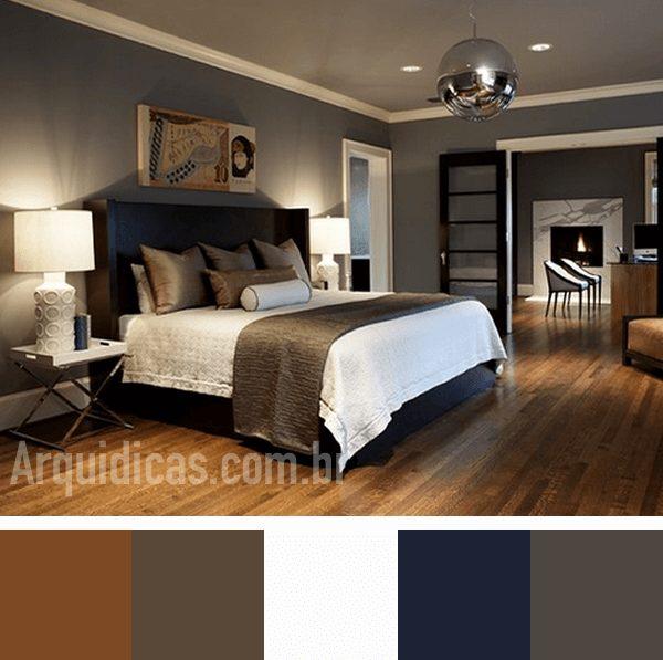 cores escuras para quarto