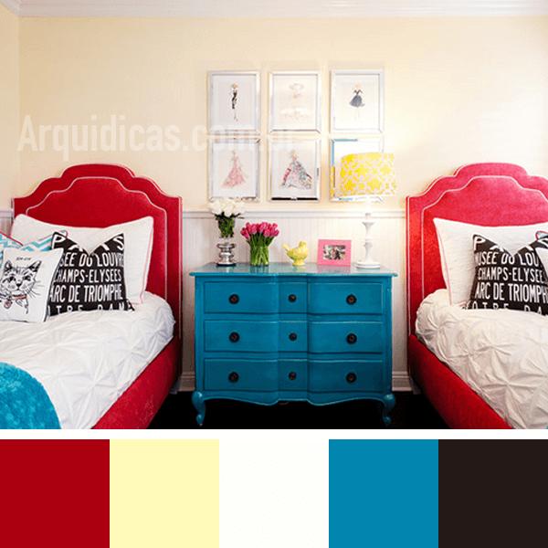 cores para quarto de solteiro
