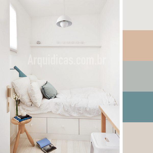 cores para quarto pequeno