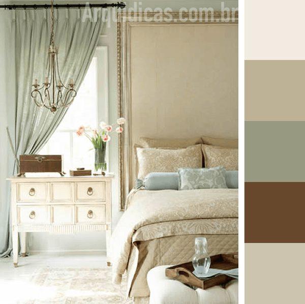 parela de cores para quarto