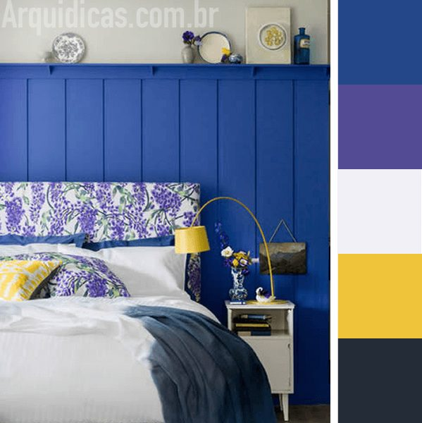 quarto azul e amarelo