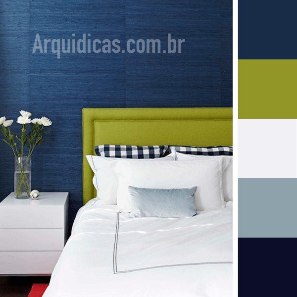 quarto azul e verde