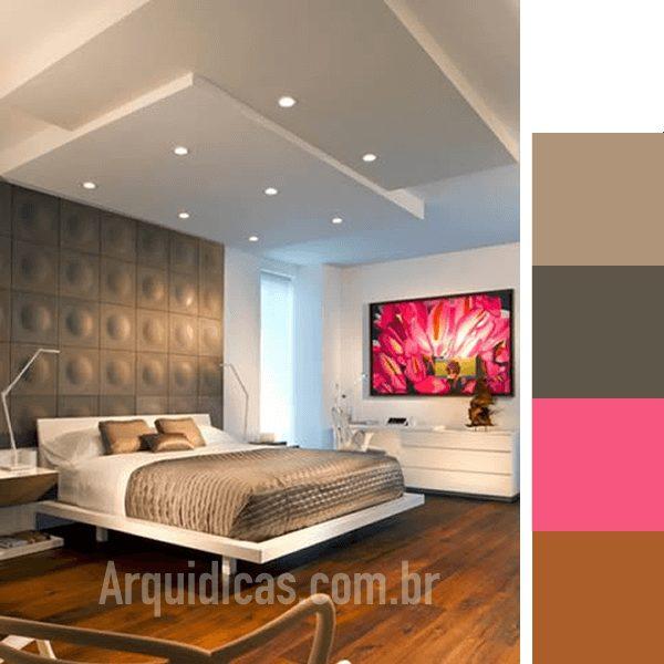 quarto branco rosa e cinza
