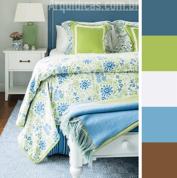 quarto verde e azul