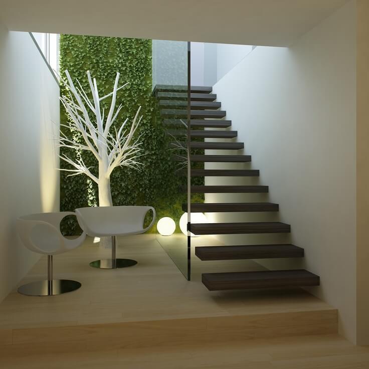 jardins de inverno escada