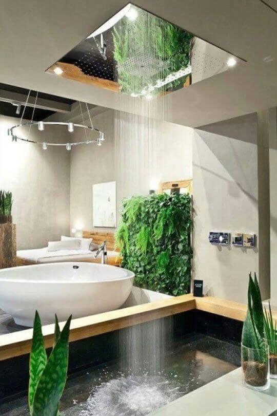 jardim no banheiro