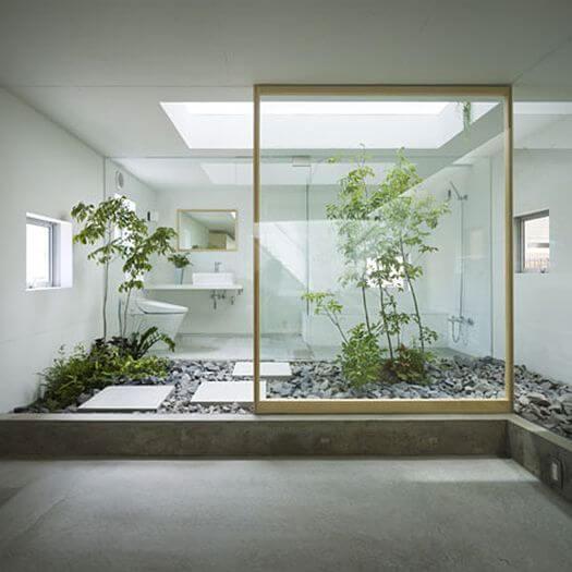 Jardins de inverno banheir
