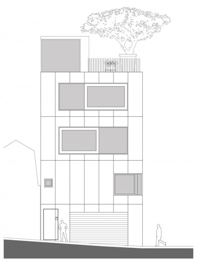 small house elevação