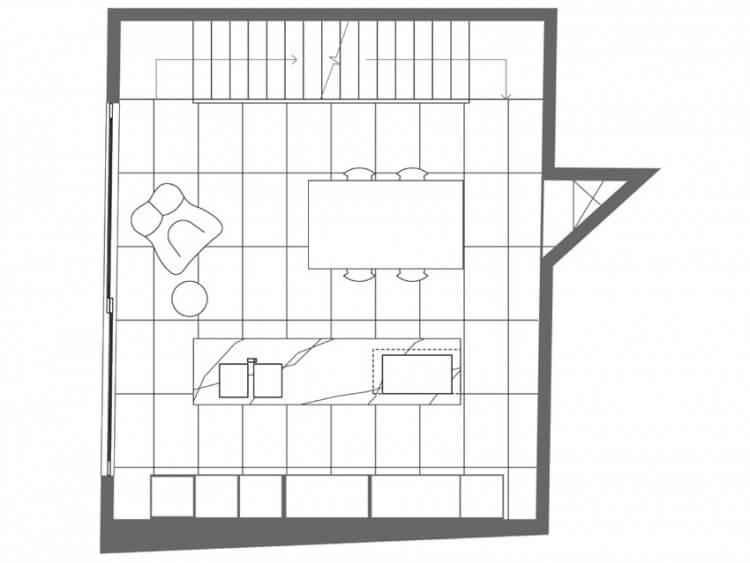 small house planta cozinha