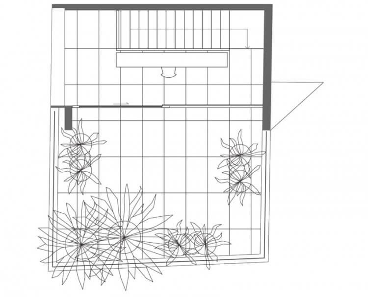 small house planta de cobertura