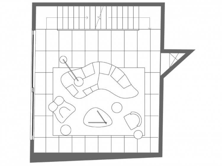 small house planta sala