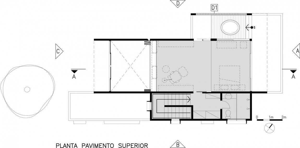 casa smpw planta do pavimento superior