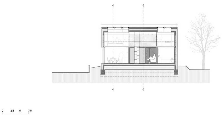 compact karst house corte