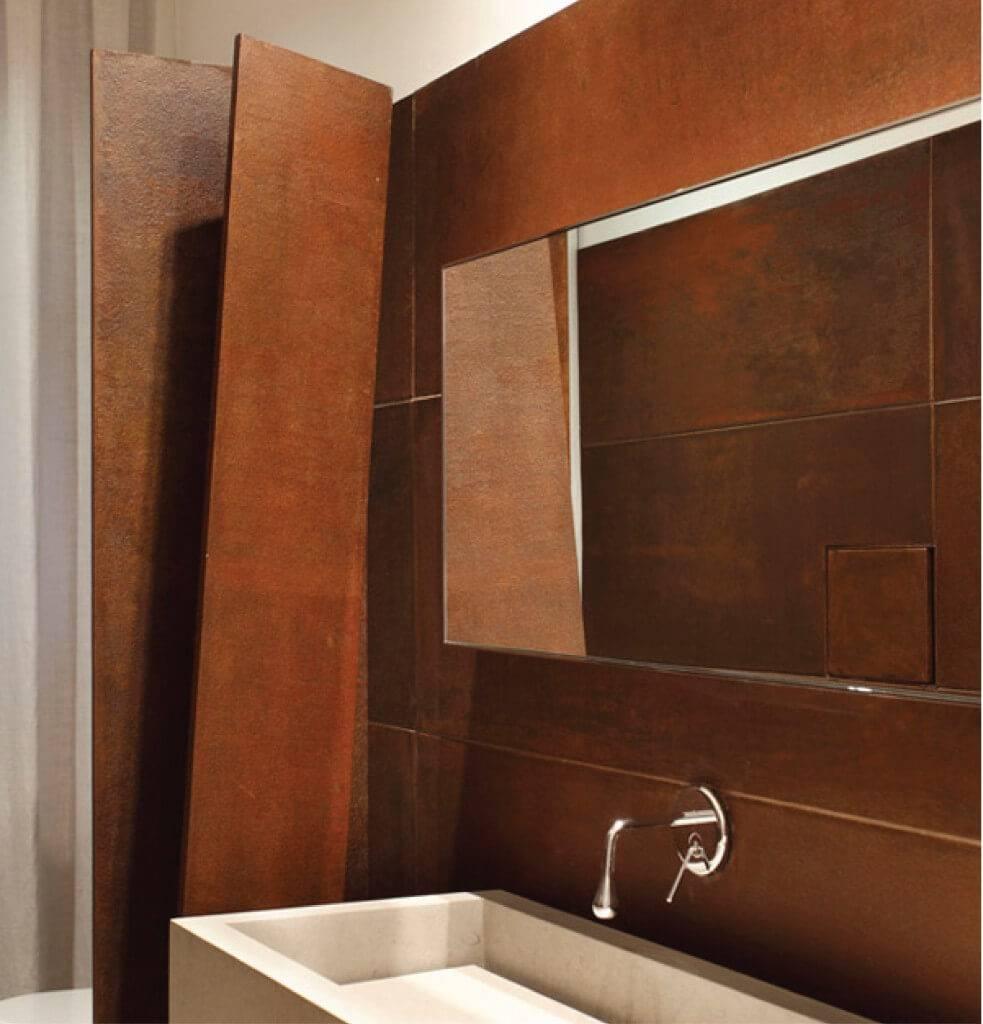 banheiro aço corten