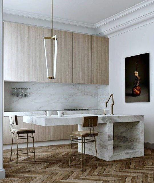 cozinha planejada pequena minimalista