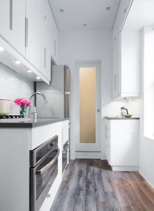 cozinha pequena e planejada
