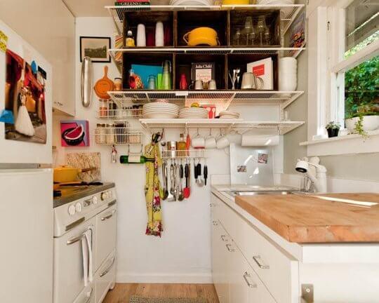 cozinha desorganizada