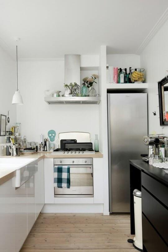 cozinha estreita planejada