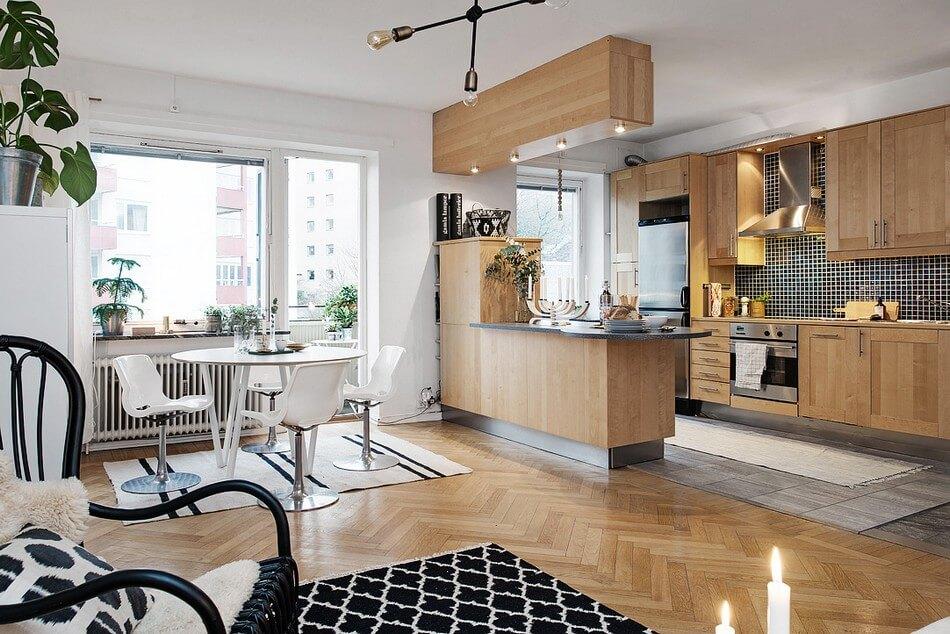 cozinha pequena americana apartamento