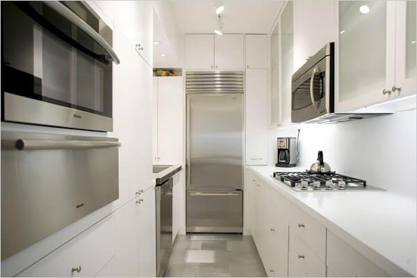 cozinha pequena planejada em u