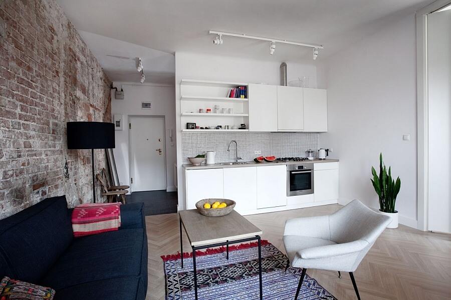 cozinha pequena planejada reta