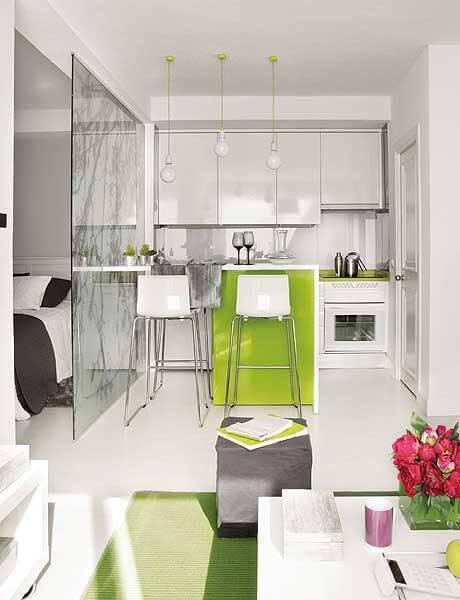 cozinha planejada pequena apartamento