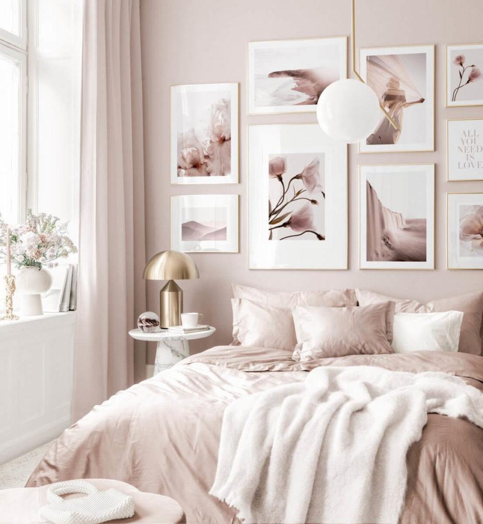 quarto rosa claro
