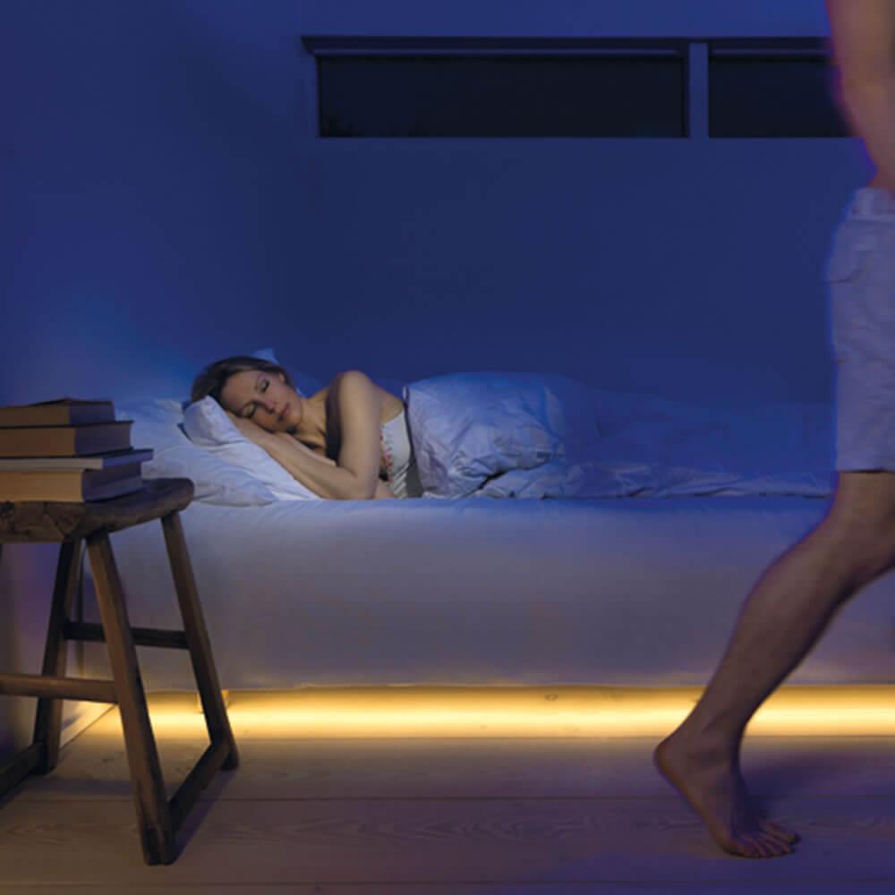 cama iluminada