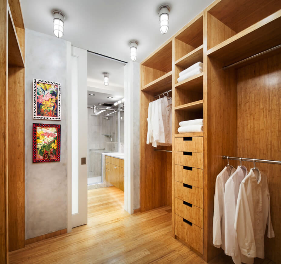 Dicas para closet pequeno arquidicas for Bedroom designs with attached bathroom and dressing room