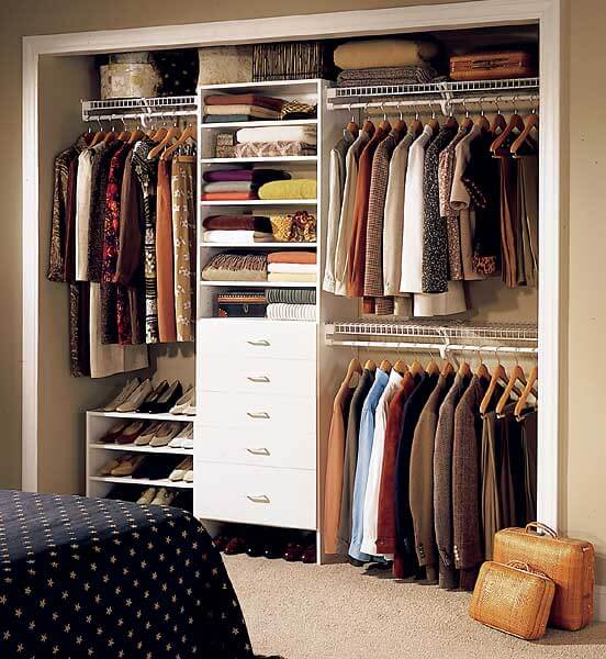 Dicas para closet pequeno arquidicas - Clothing storage for small spaces image ...